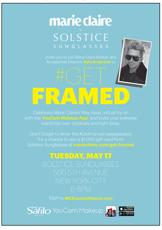Marie Claire: Get Framed- Tuesday May 17th - NYCPlugged