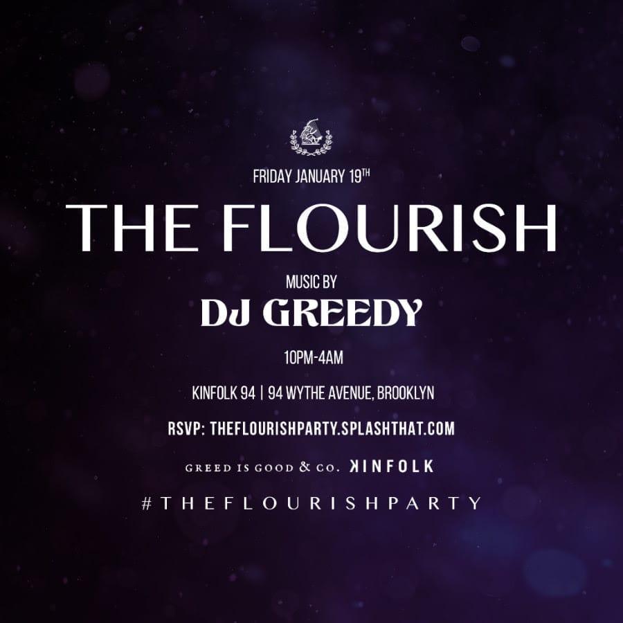 THE FLOURISH PARTY- Friday January 19th