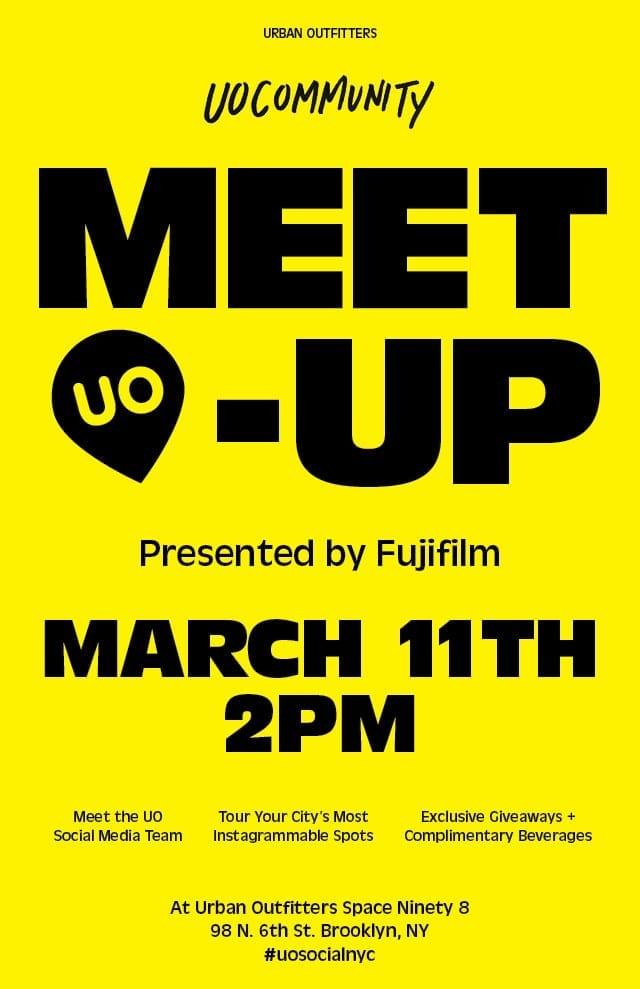UO Community Meet-up Presented by Fujifilm- Sunday March 11th