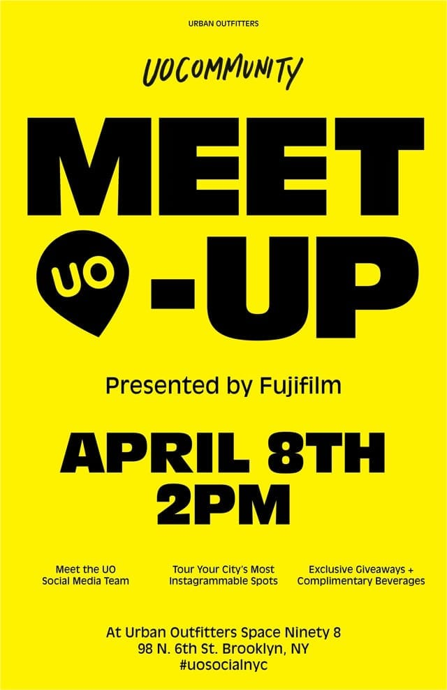 @UO Community Meet-up Presented by @FujifilmUS- Sunday April 8th
