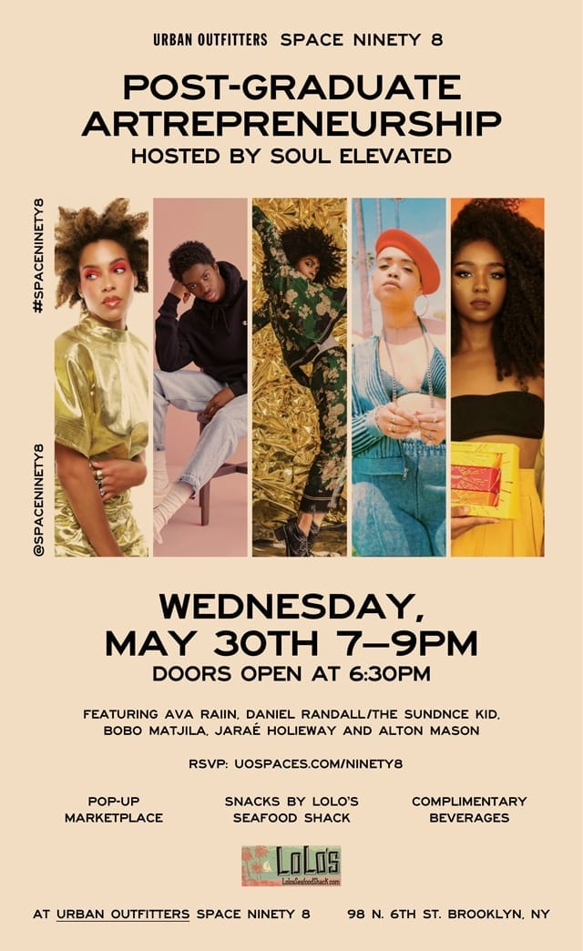 Post-Graduate Artrepreneurship hosted by Soul Elevated- Wednesday May 30th