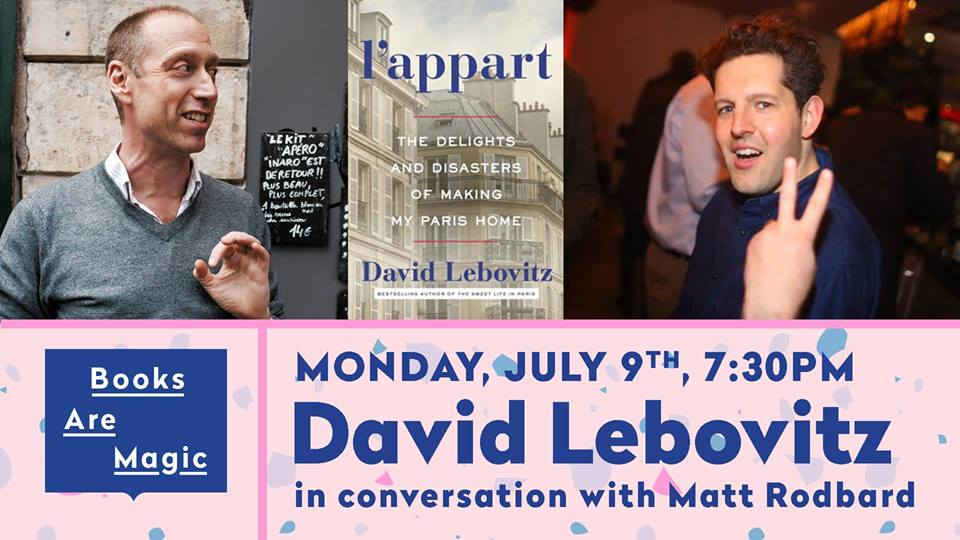 TASTE Presents @DavidLebovitz w/ @MattRodbard- Monday July 9th