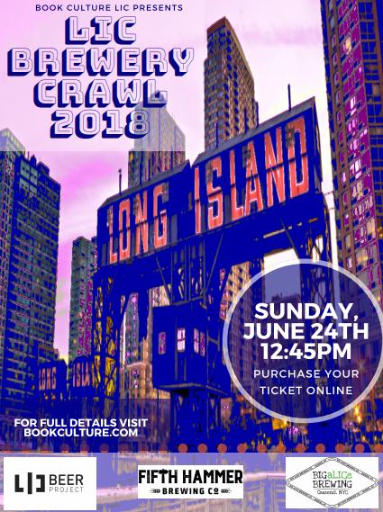 @BookCulture LIC: LIC Brewery Crawl-Sunday June 24th