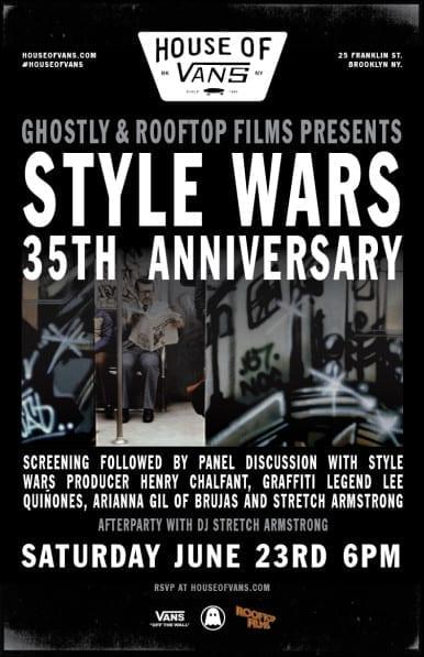 Style Wars 35th Anniversary Screening- Saturday June 23rd