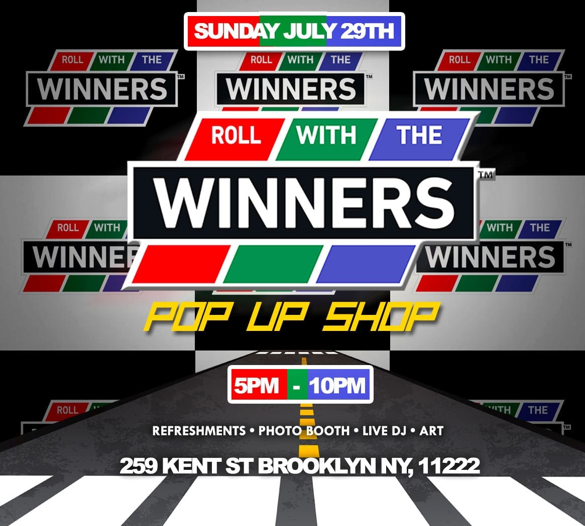 """""""Roll With The Winners"""" Pop Up Shop- Sunday July 29th"""