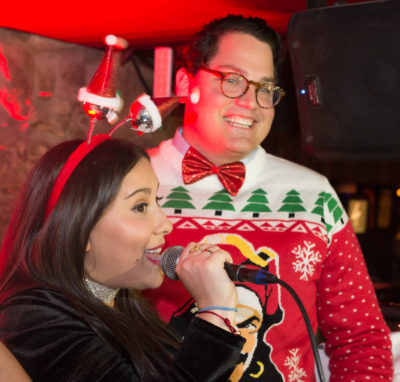 Girl & Boy with no job taking over the DJ booth to announce #CaptainHolidays social media contest.